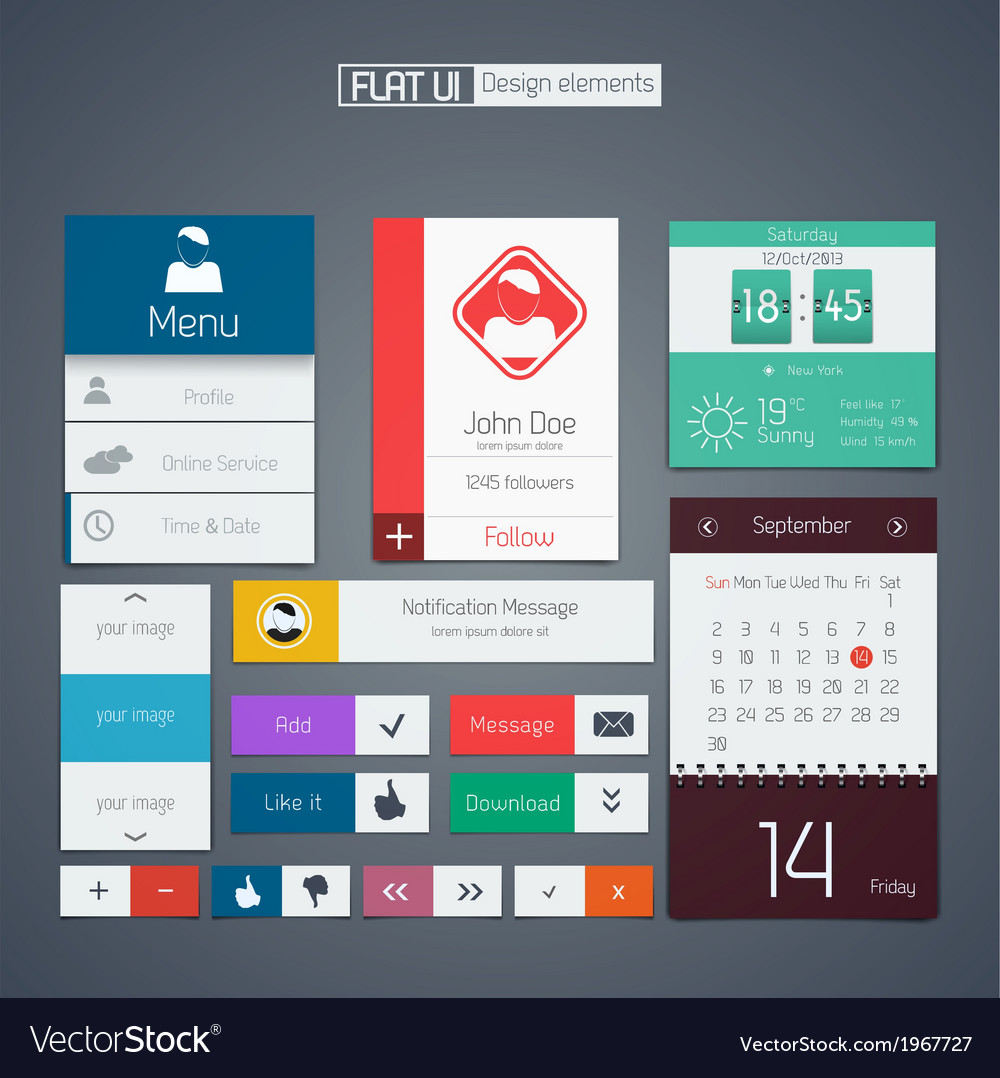 Flat web design elements 2 vector | Price: 1 Credit (USD $1)