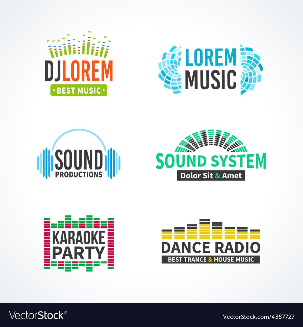 Fourth set of dj music equalizer logo vector | Price: 1 Credit (USD $1)