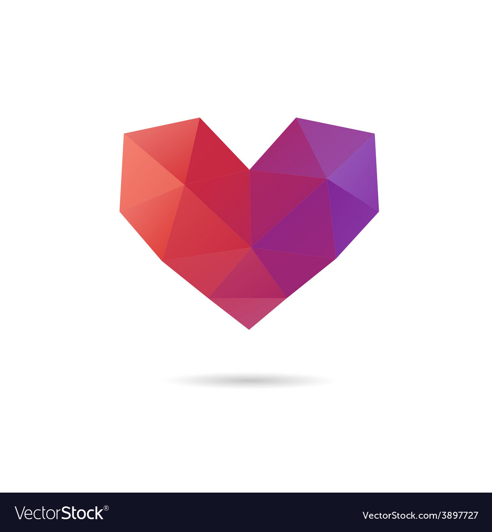 Heart shape abstract vector | Price: 1 Credit (USD $1)