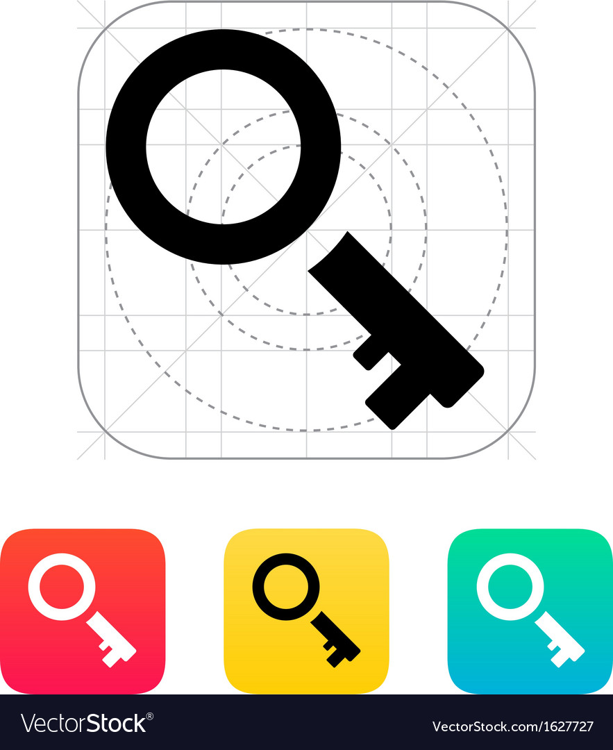 Key icon vector | Price: 1 Credit (USD $1)