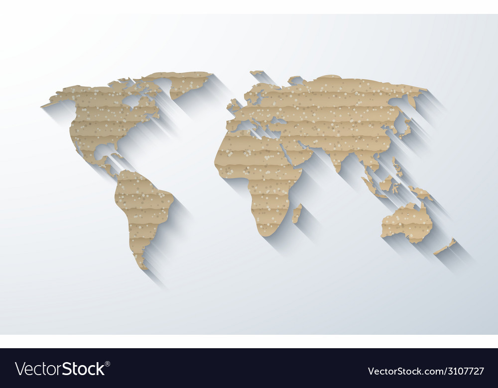 Modern cardboard map background vector | Price: 1 Credit (USD $1)
