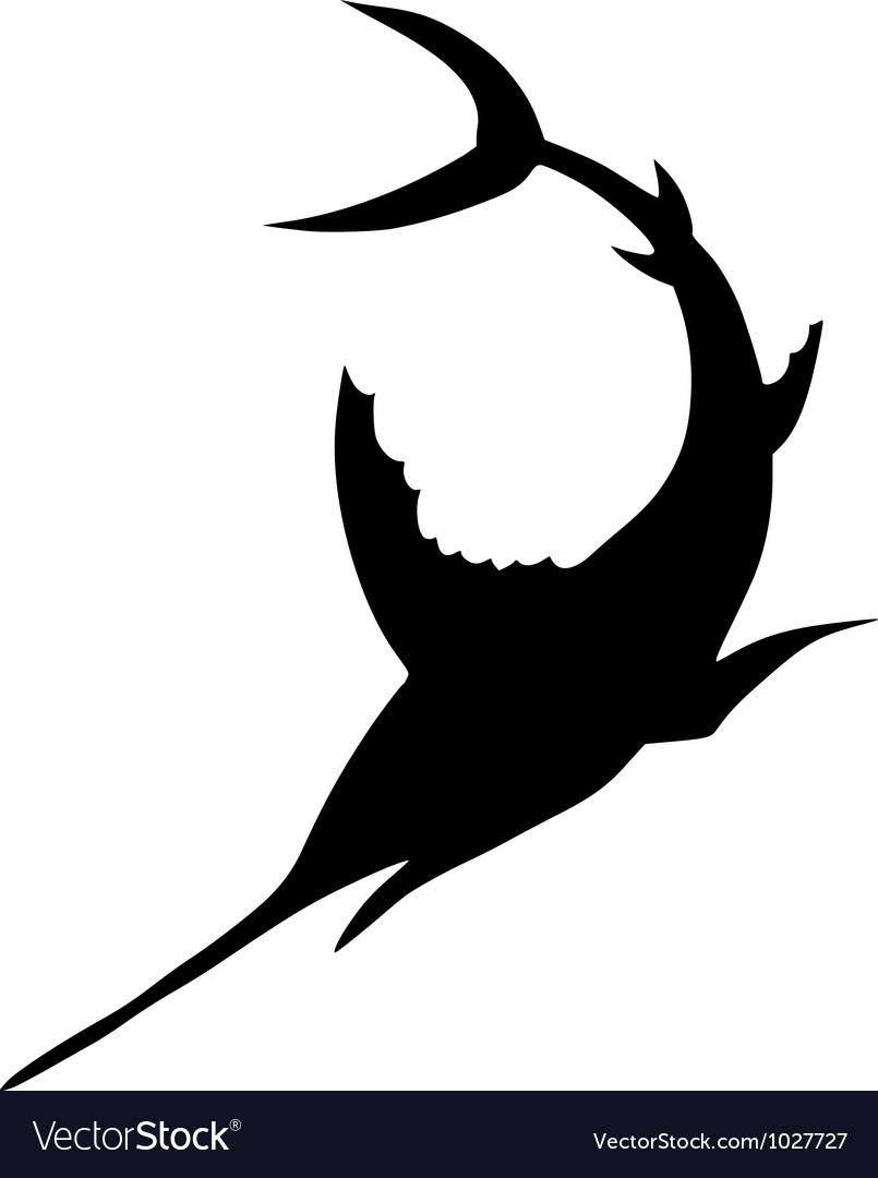 Silhouette of sword fish vector | Price: 1 Credit (USD $1)