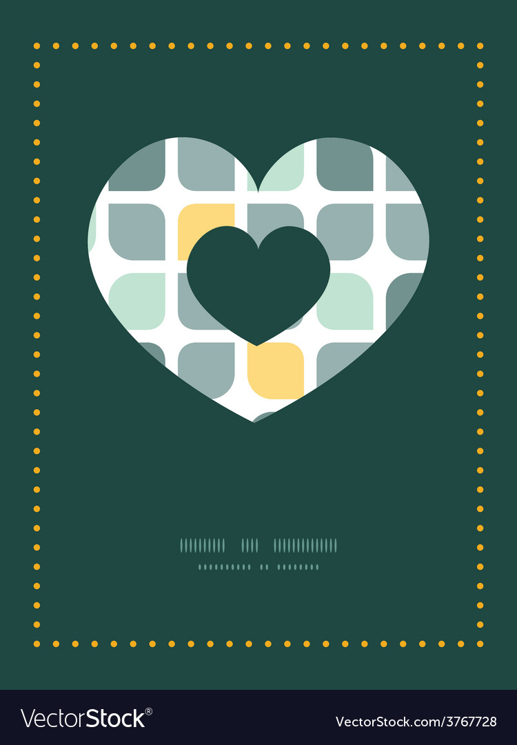 Abstract gray yellow rounded squares heart vector | Price: 1 Credit (USD $1)