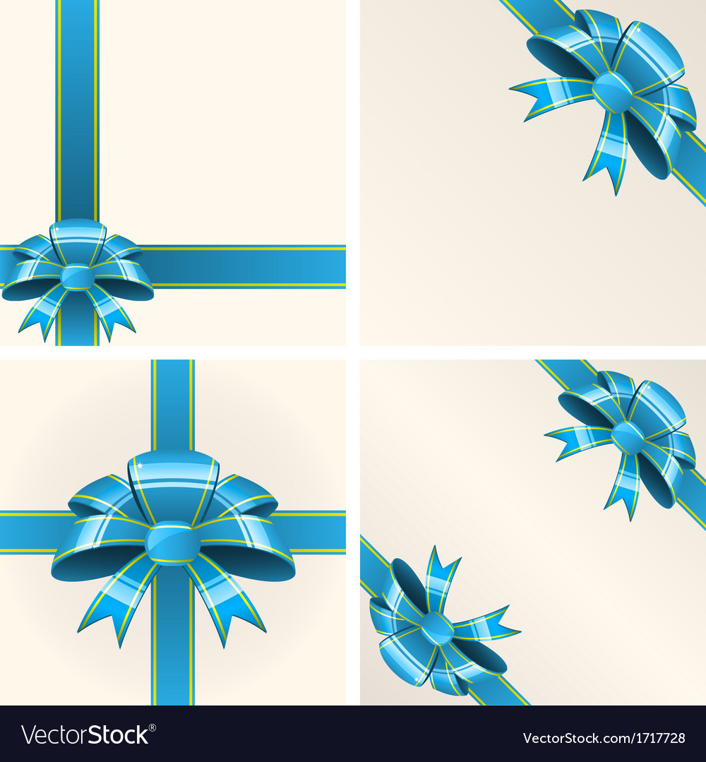 Blue bow with ribbons vector   Price: 1 Credit (USD $1)