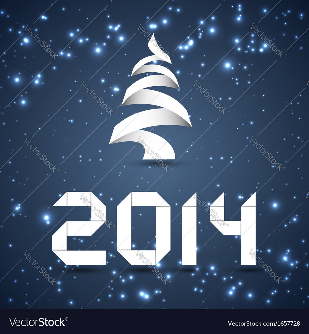 Blue new year background 2014 vector | Price: 1 Credit (USD $1)