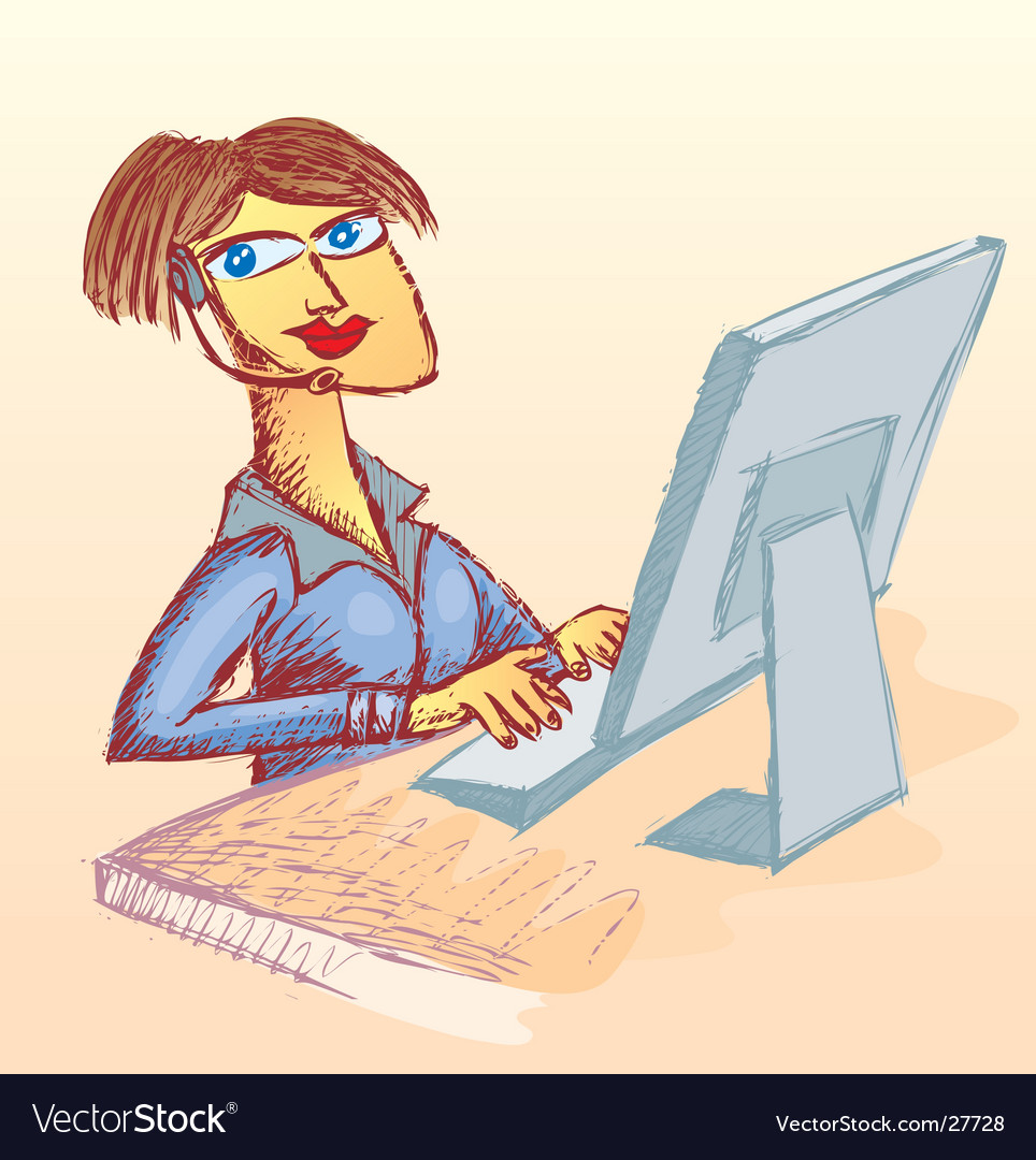 Call center woman vector   Price: 3 Credit (USD $3)
