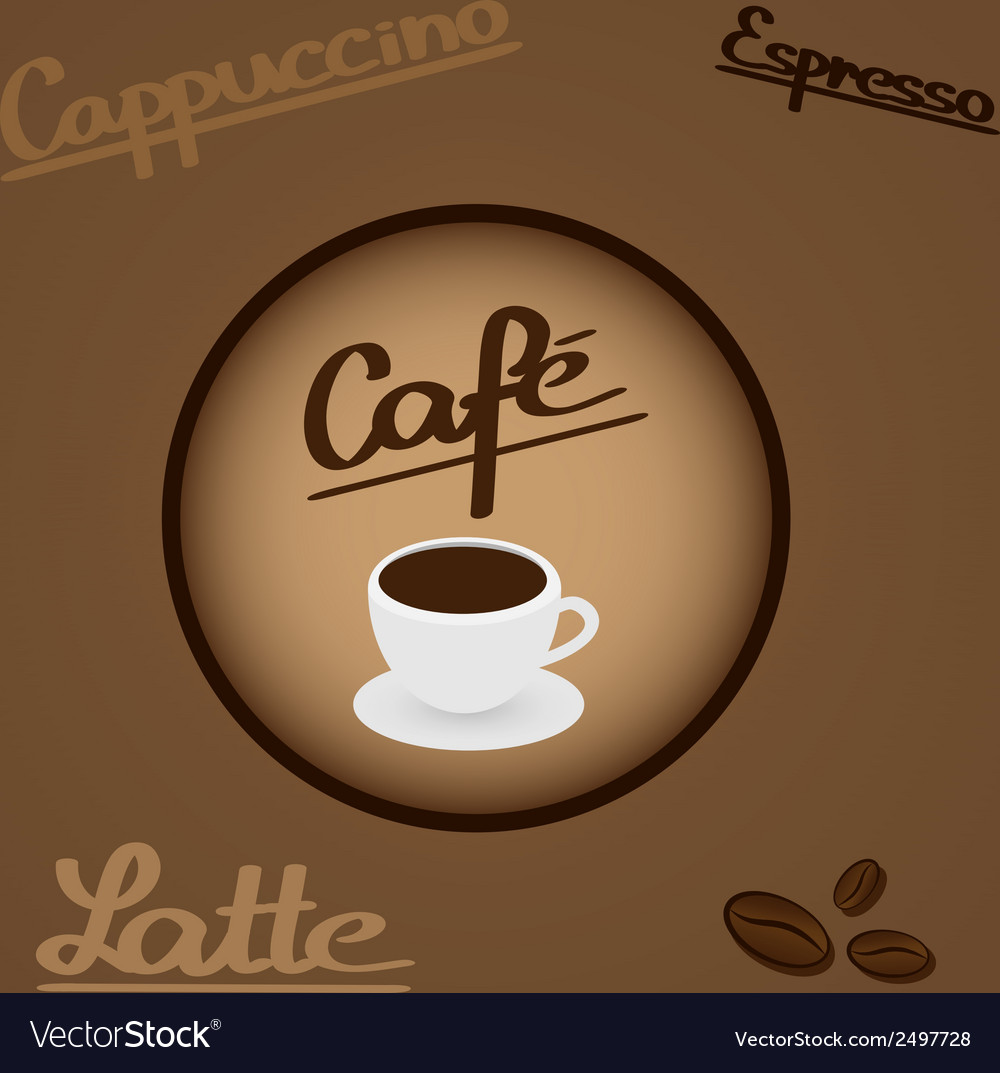 Coffee - design elements and typography vector | Price: 1 Credit (USD $1)