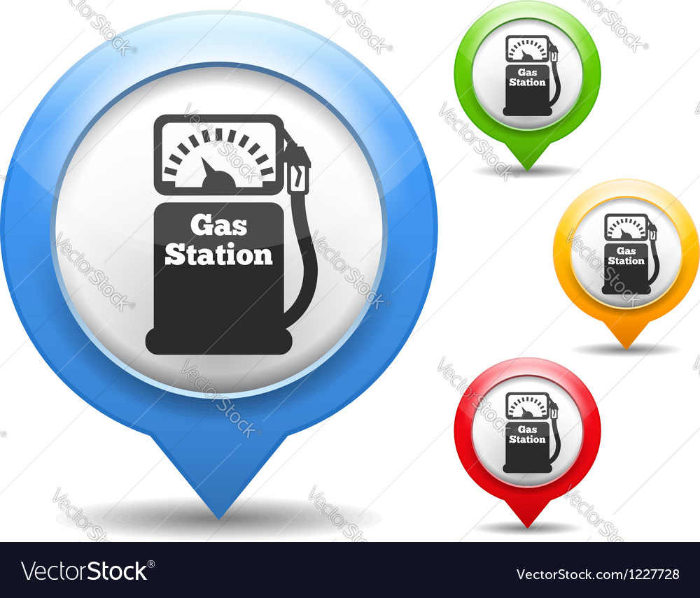 Gas station icon vector | Price: 3 Credit (USD $3)
