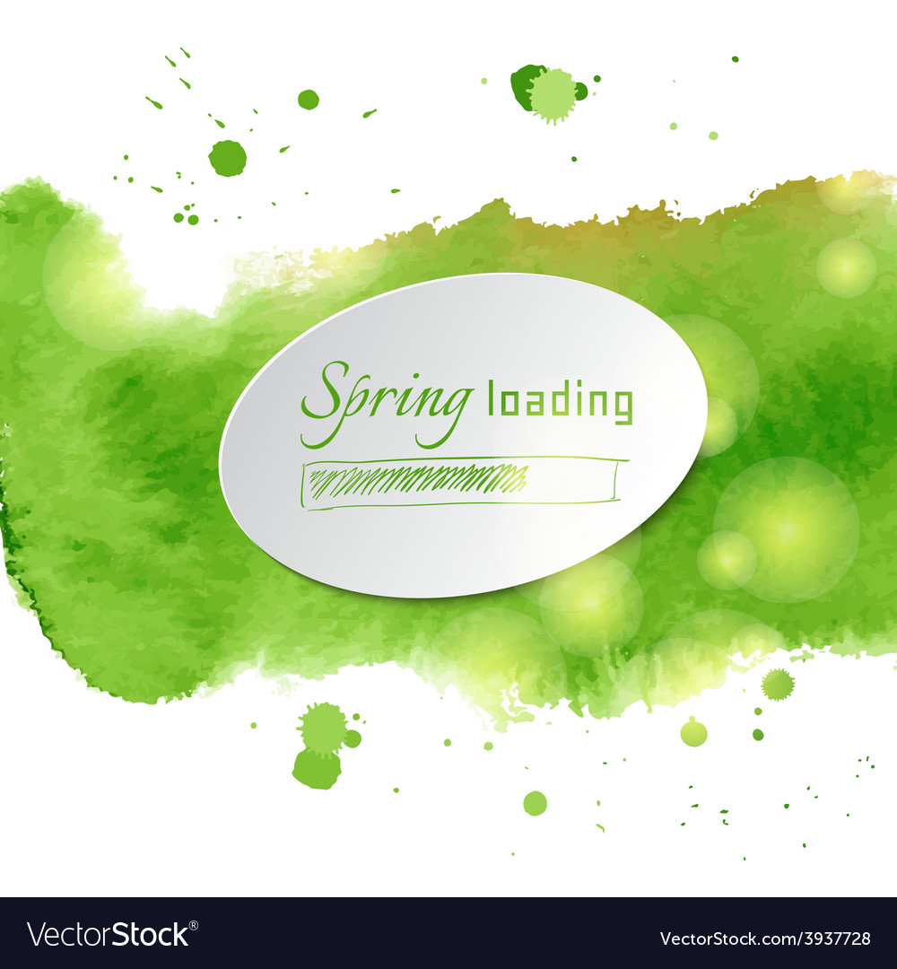 With green watercolor vector | Price: 1 Credit (USD $1)