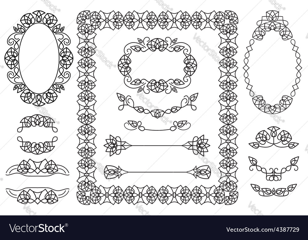 4 frames and 9 items for decorating text vector | Price: 1 Credit (USD $1)