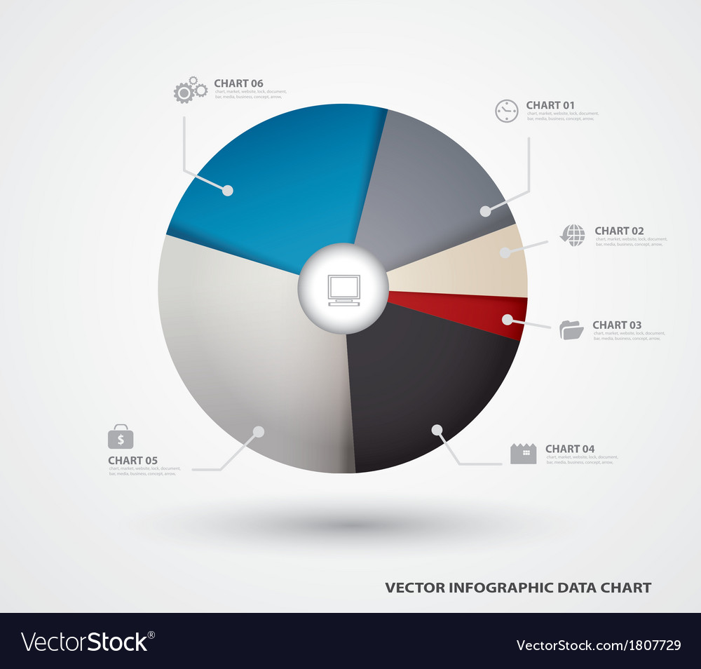 Business pie chart paper infographics vector | Price: 1 Credit (USD $1)