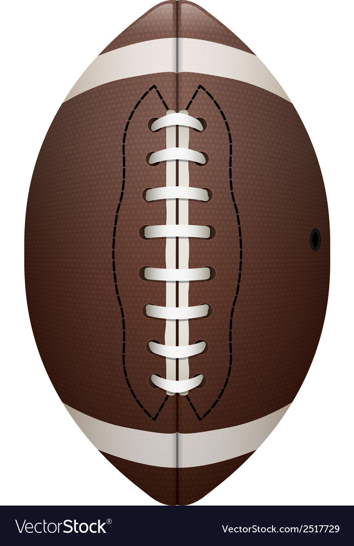 Front view of american football isolated vector | Price: 1 Credit (USD $1)