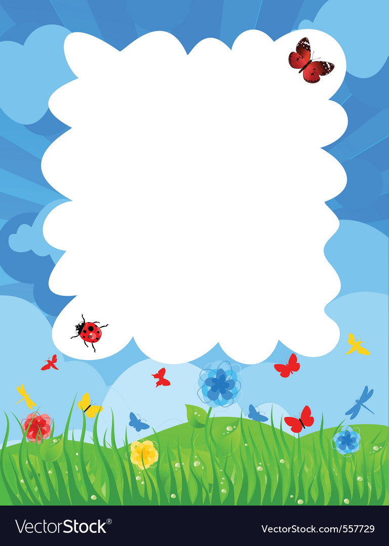 Grass on a meadow and the blue sky a vector | Price: 1 Credit (USD $1)