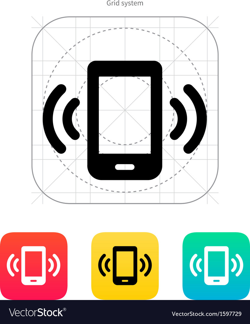 Mobile phone bell icon vector | Price: 1 Credit (USD $1)
