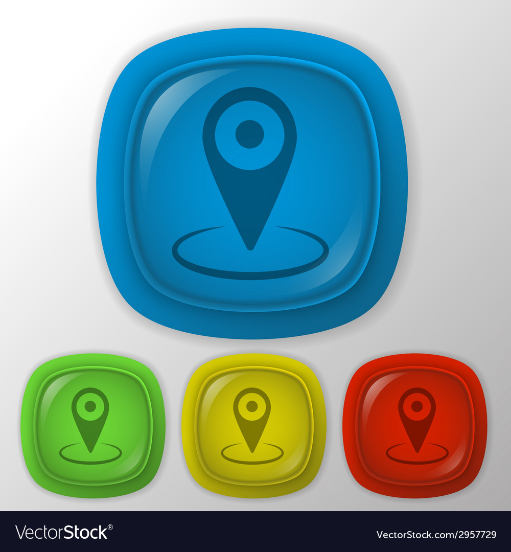 Pin location on the map vector | Price: 1 Credit (USD $1)