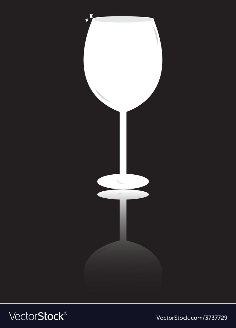 Wine glass isolated vector | Price: 1 Credit (USD $1)