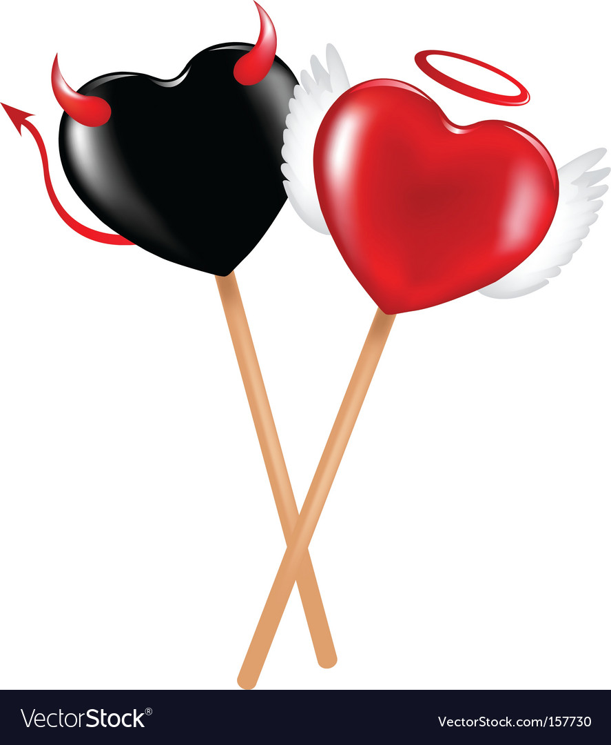 Angel and demon lollipops vector | Price: 1 Credit (USD $1)