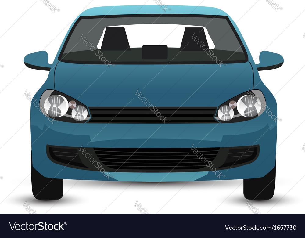 Blue car vector | Price: 1 Credit (USD $1)