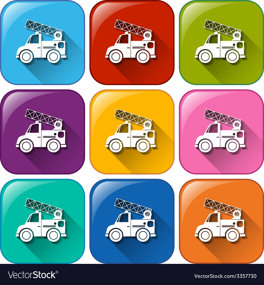 Buttons with mounting vehicles vector | Price: 1 Credit (USD $1)