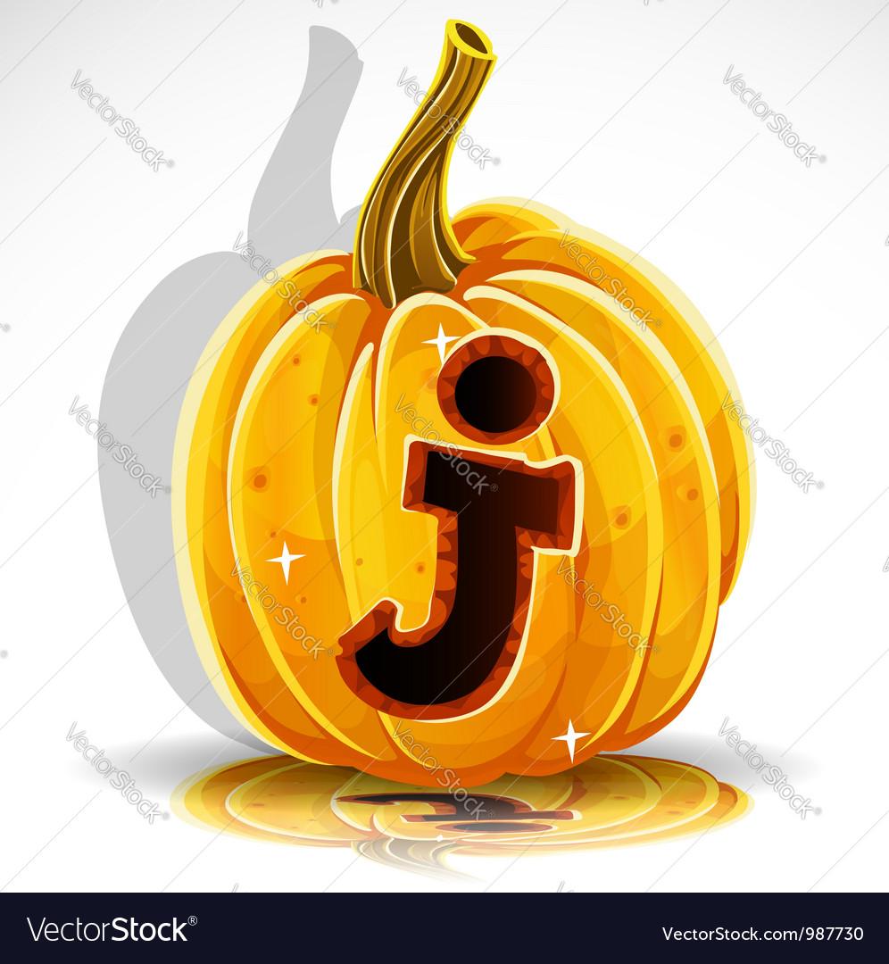 Halloween pumpkin j vector | Price: 1 Credit (USD $1)