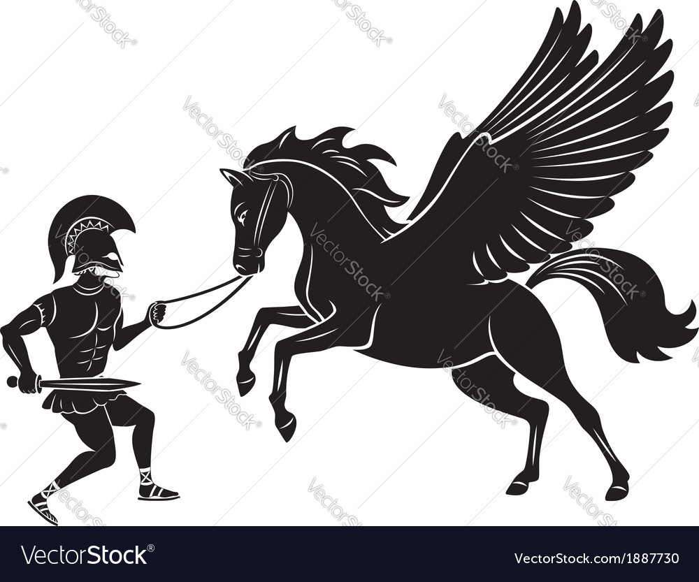 Hercules and pegasus vector | Price: 1 Credit (USD $1)