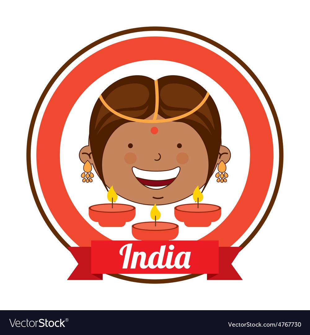 India kid vector | Price: 1 Credit (USD $1)