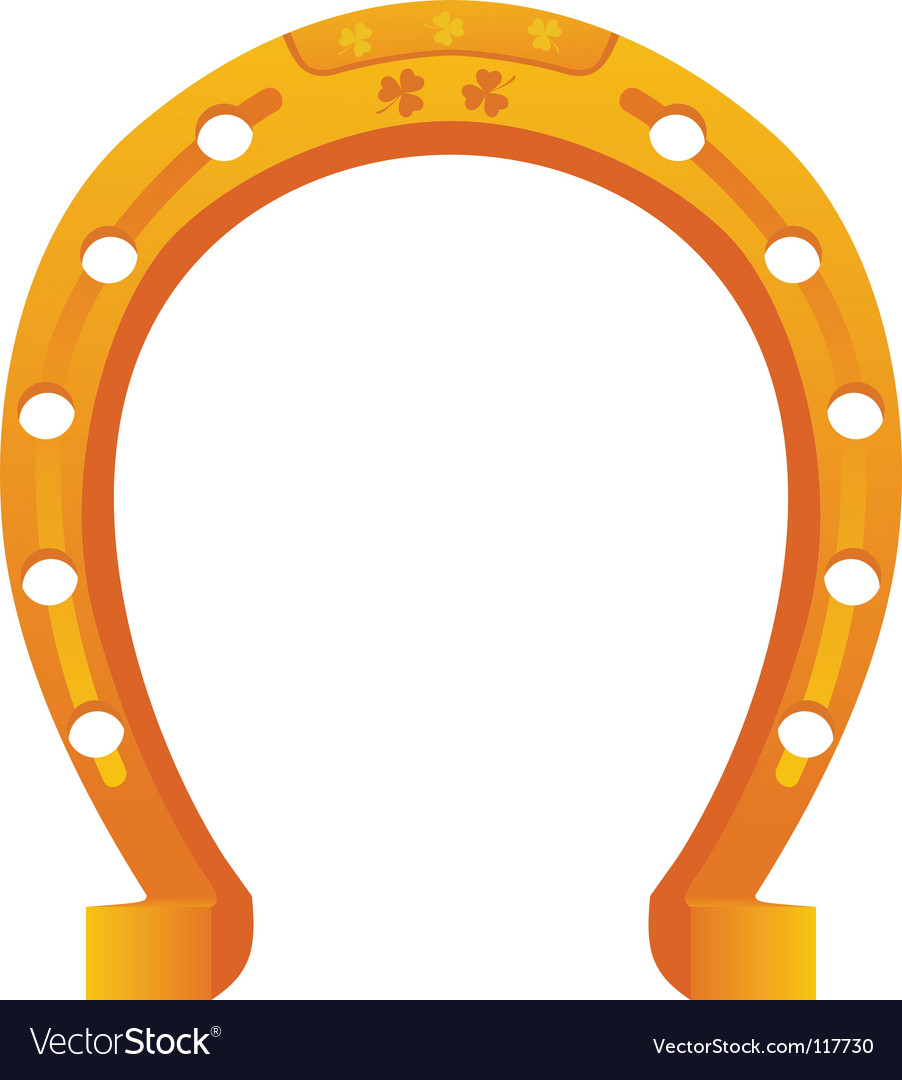 Lucky horseshoe vector