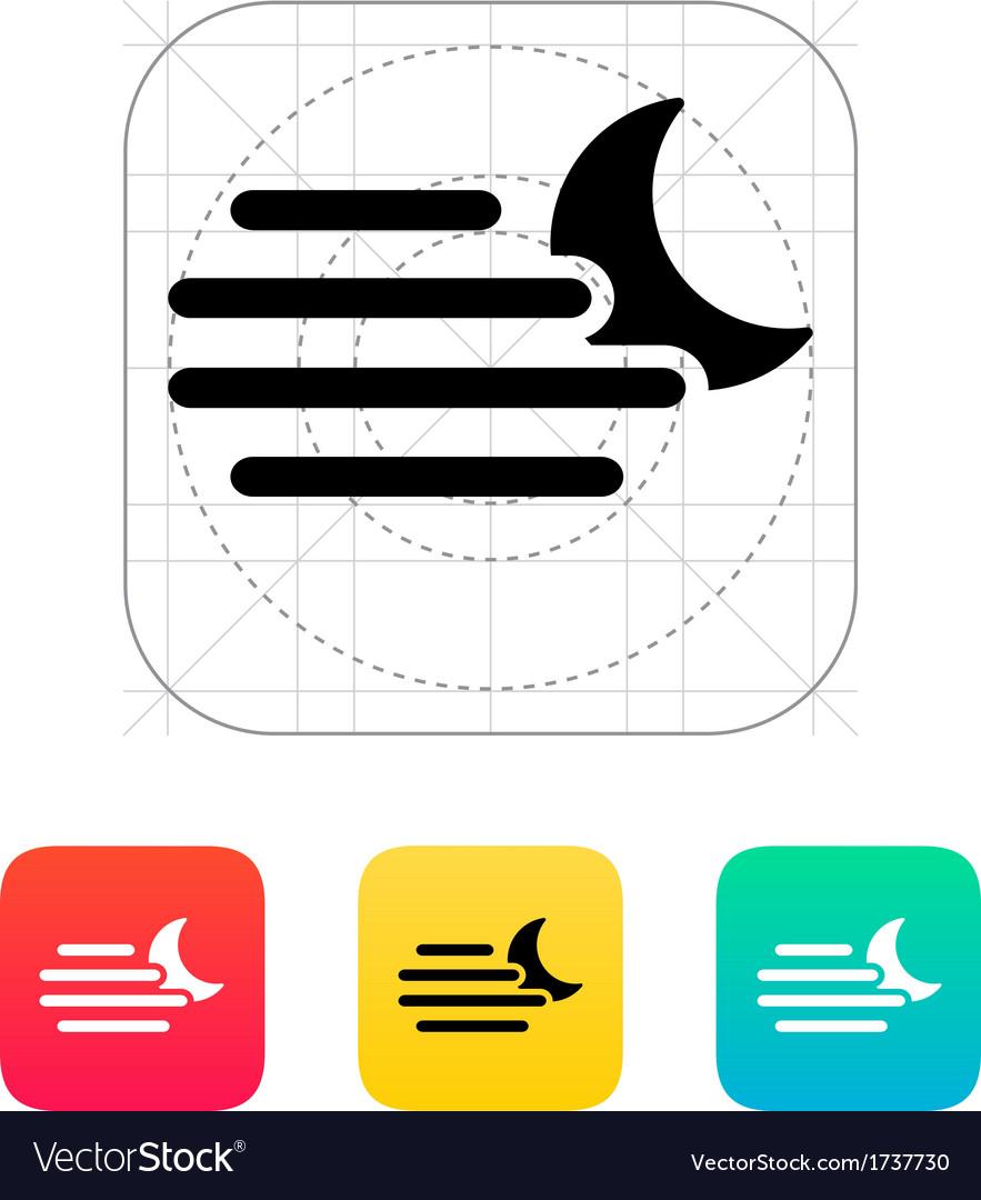 Night hazy weather icon vector | Price: 1 Credit (USD $1)