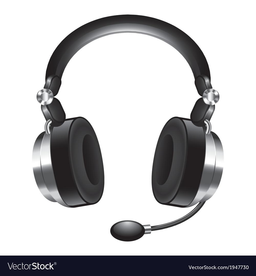 Object headphones vector | Price: 1 Credit (USD $1)