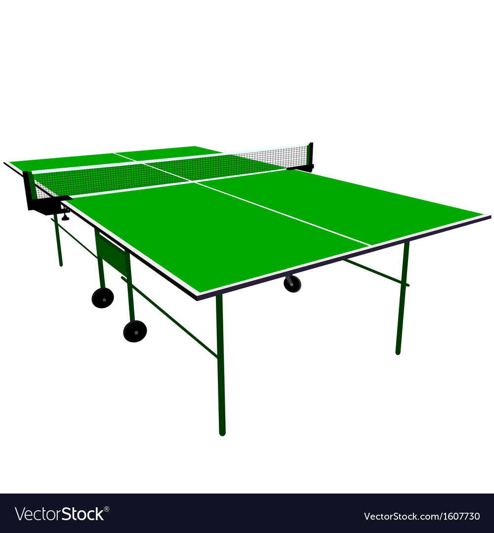 Ping pong blue table tennis vector | Price: 1 Credit (USD $1)