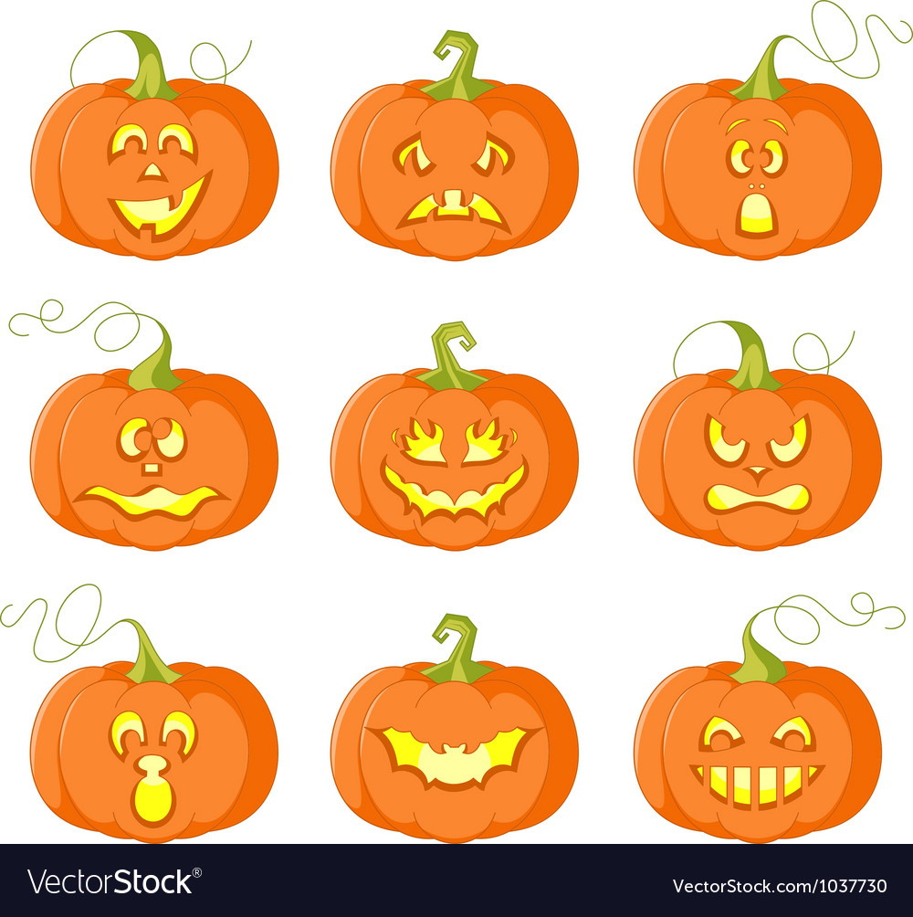 Pumpkins for halloween vector | Price: 1 Credit (USD $1)