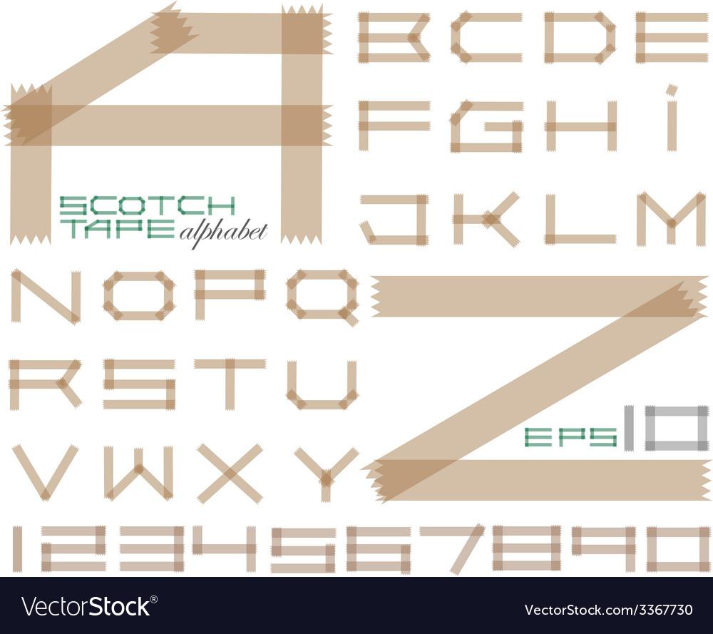 Scotch tape alphabet vector | Price: 1 Credit (USD $1)