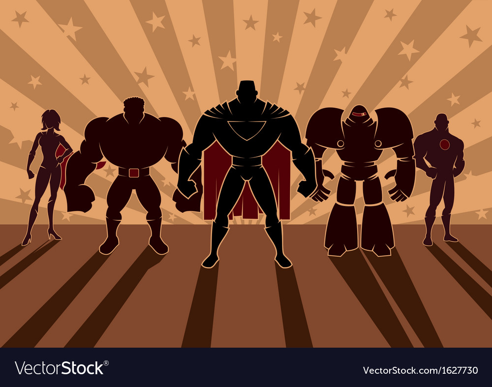 Superhero team vector | Price: 1 Credit (USD $1)