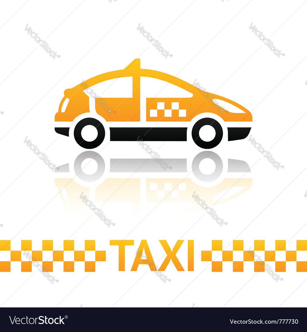Taxi cab symbol vector | Price: 1 Credit (USD $1)