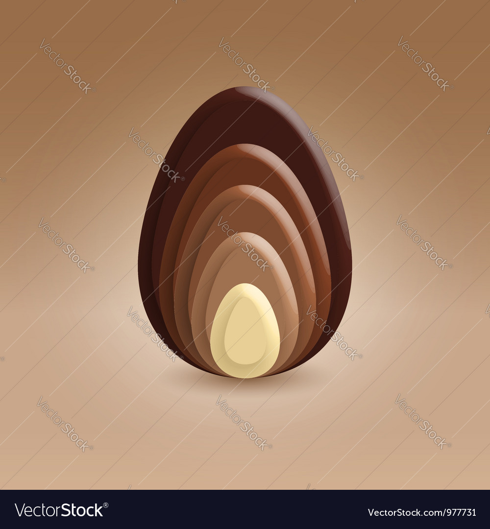 Chocolate slices ellipse shape vector | Price:  Credit (USD $)