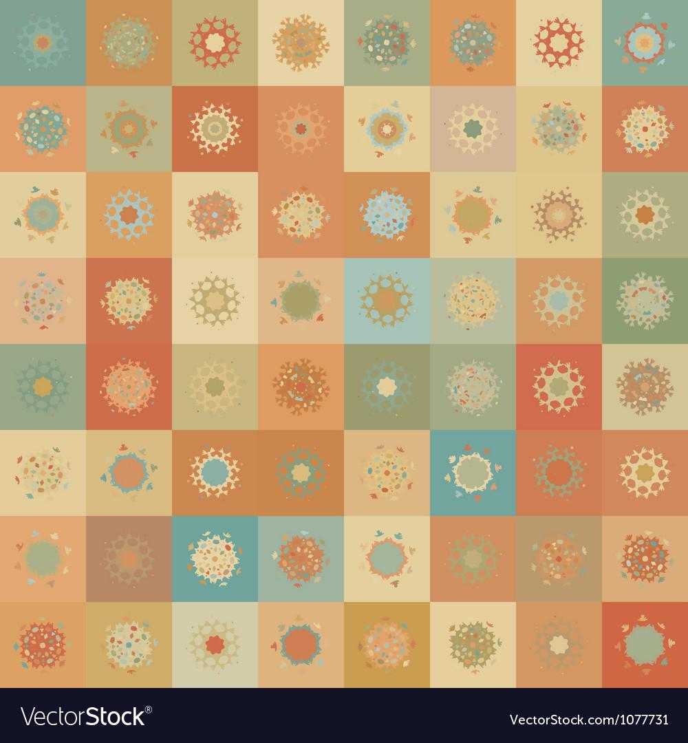 Christmas snowflake seamless pattern vector | Price: 1 Credit (USD $1)