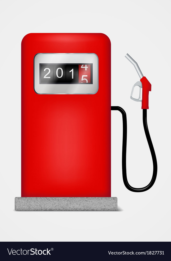 Gas station pump with fuel nozzle vector   Price: 1 Credit (USD $1)