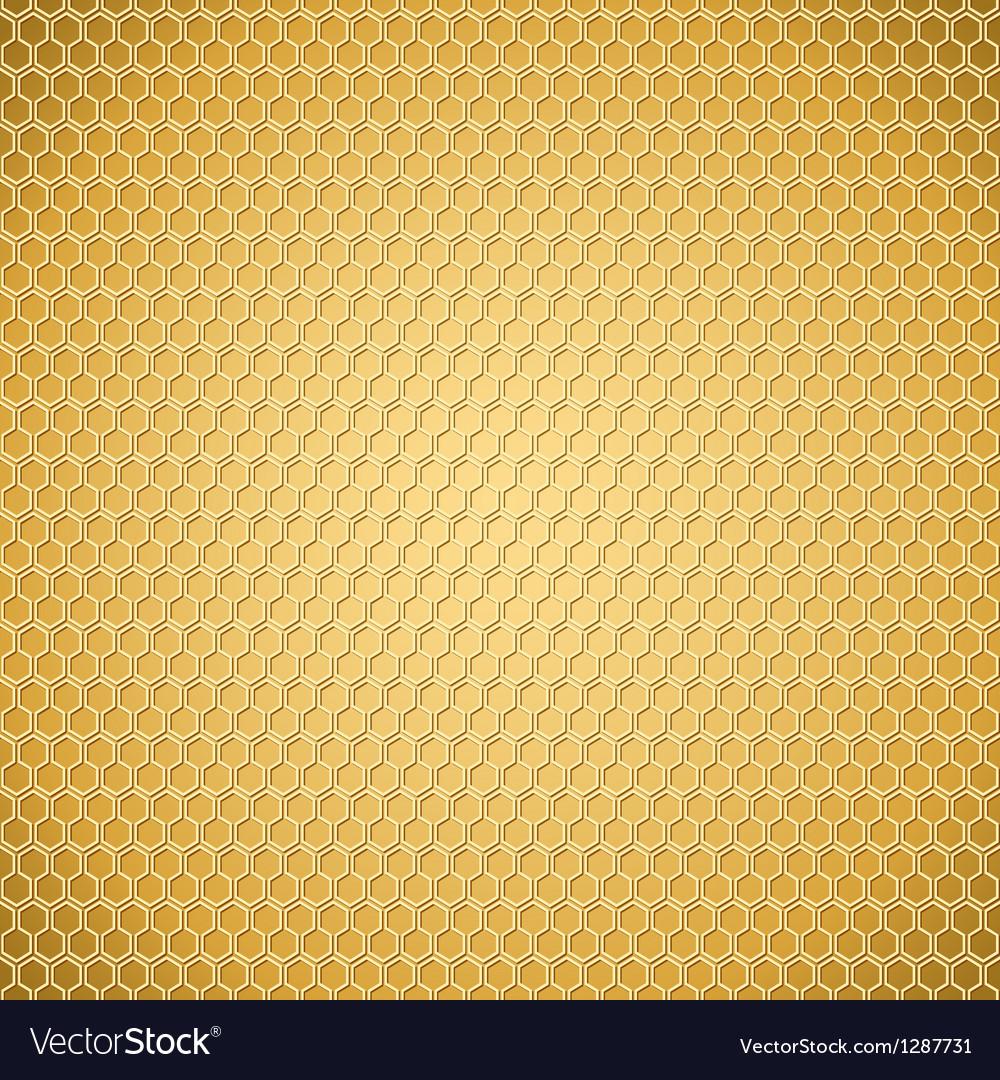 Golden honeycomb texture vector | Price: 3 Credit (USD $3)
