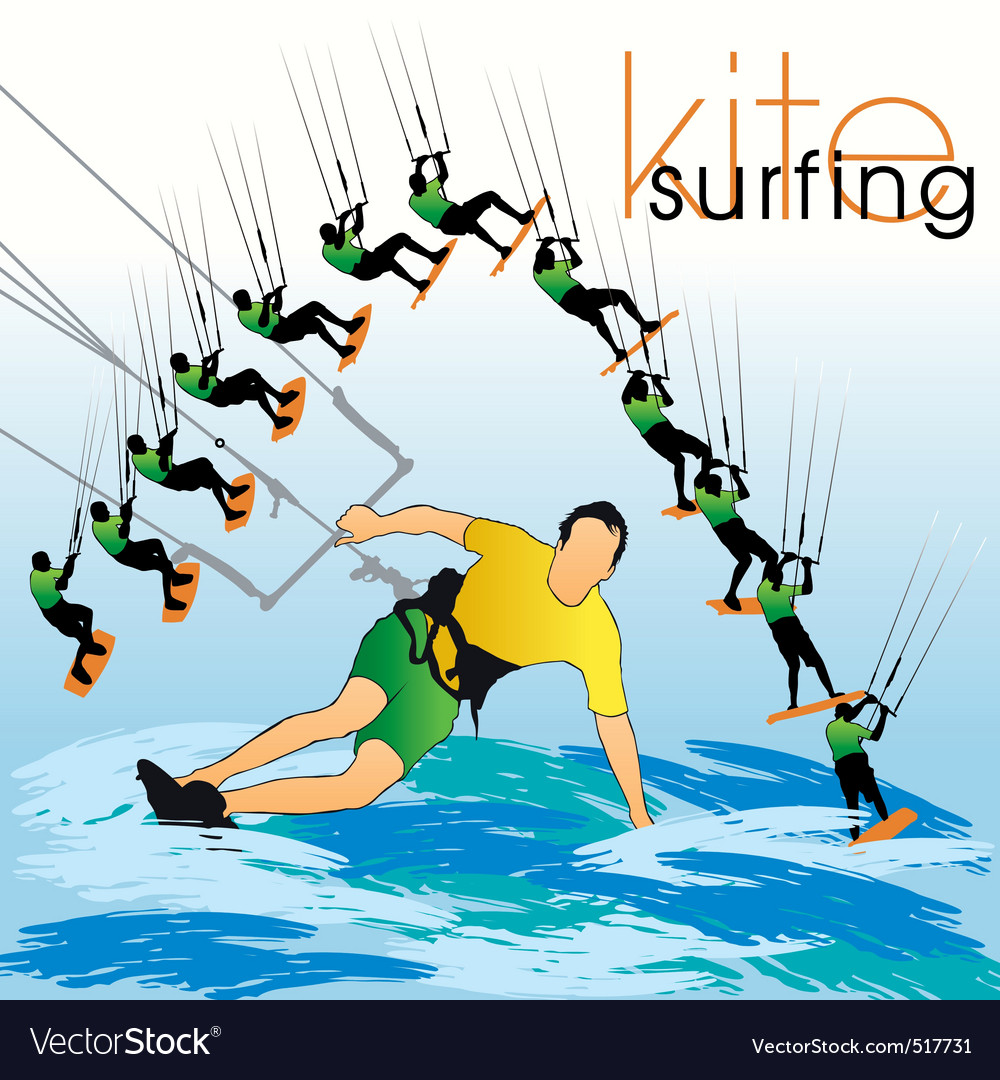 Kite surf set vector | Price: 1 Credit (USD $1)