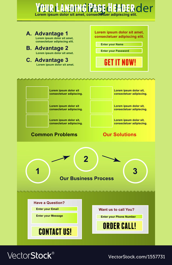 Landing page template vector | Price: 1 Credit (USD $1)