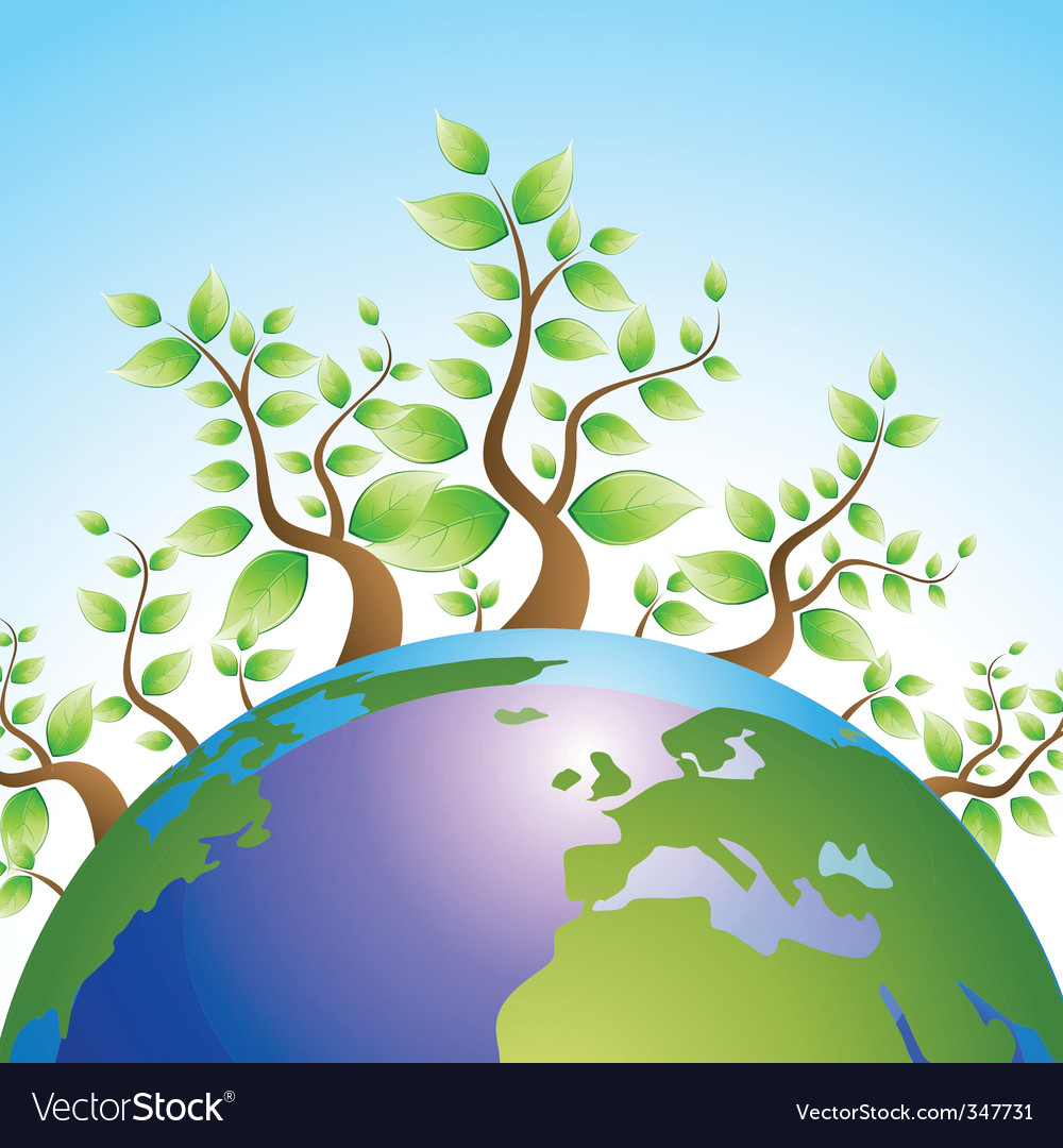 Recycle globe vector | Price: 1 Credit (USD $1)