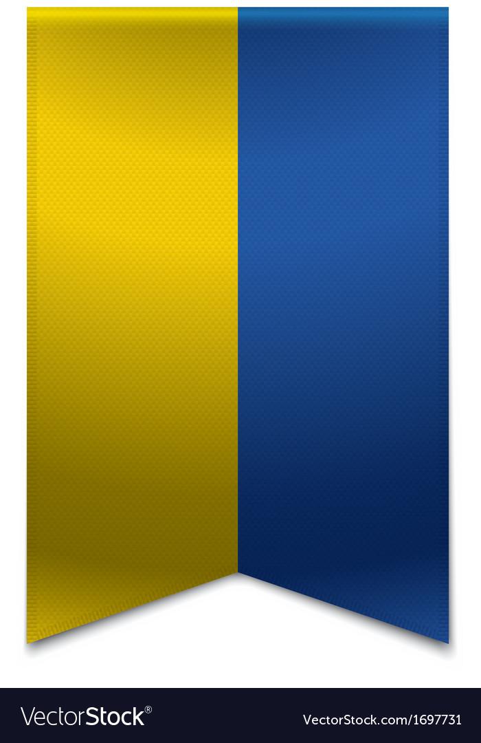Ribbon banner - ukrainian flag vector | Price: 1 Credit (USD $1)