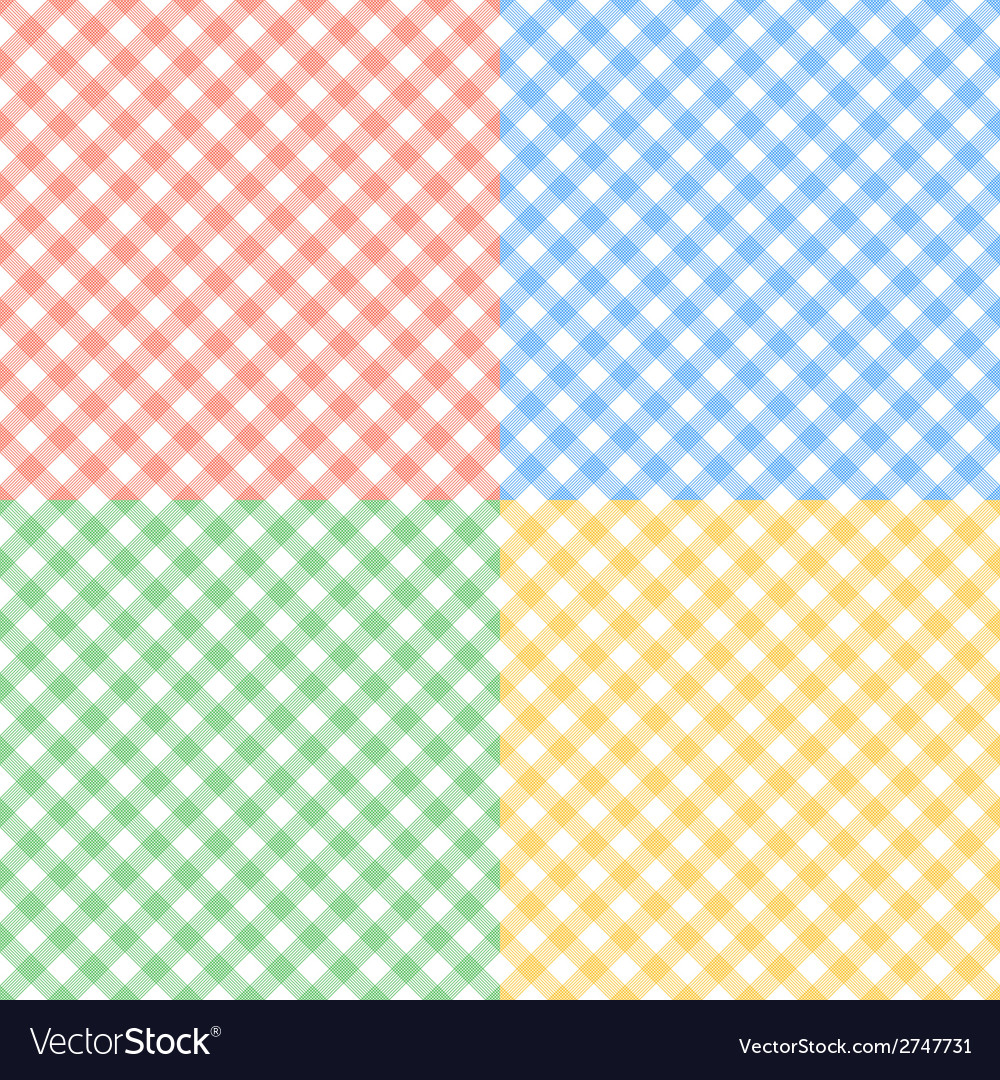 Set of seamless checkered textures vector | Price: 1 Credit (USD $1)