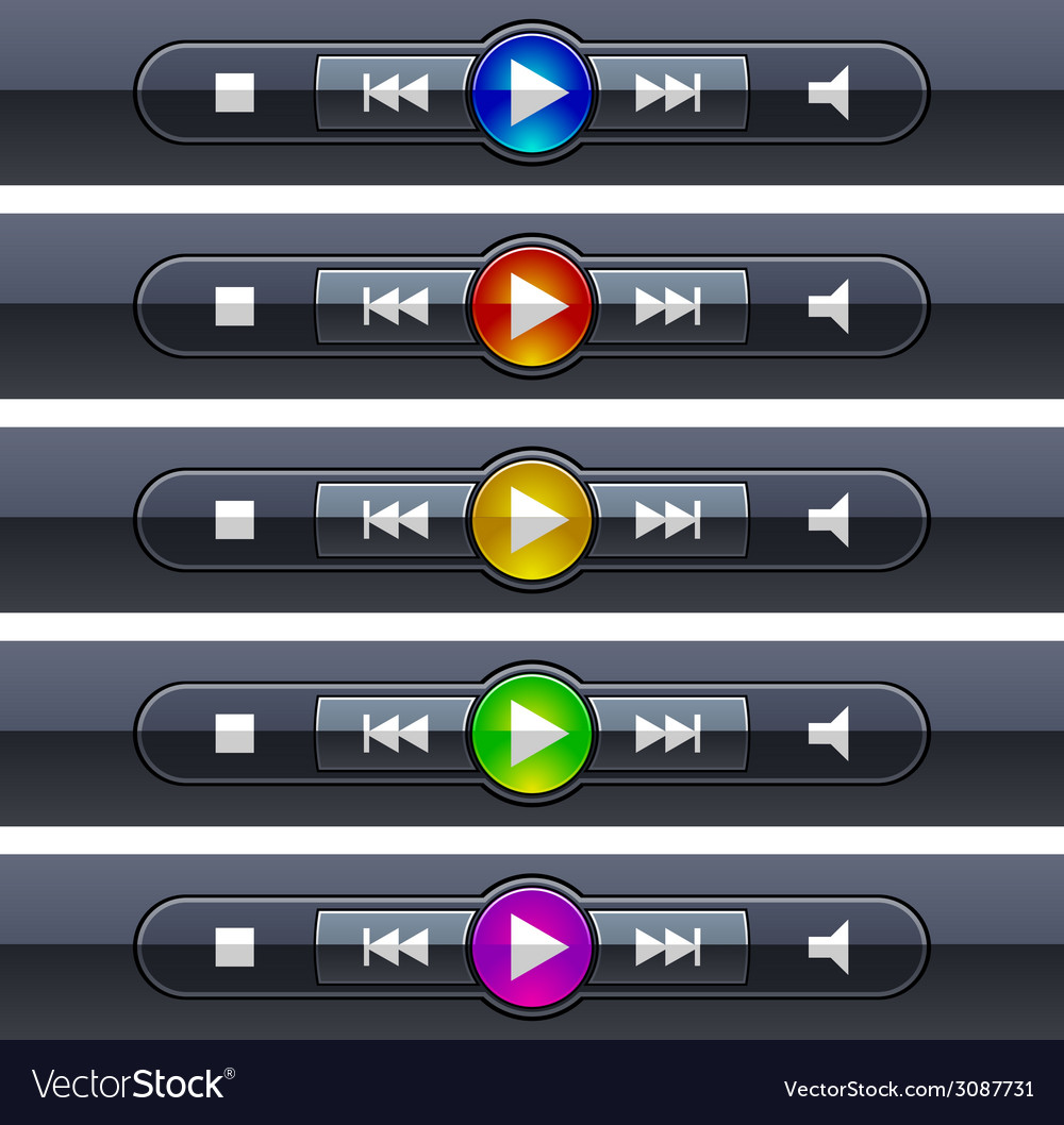Shiny multimedia panels vector | Price: 1 Credit (USD $1)