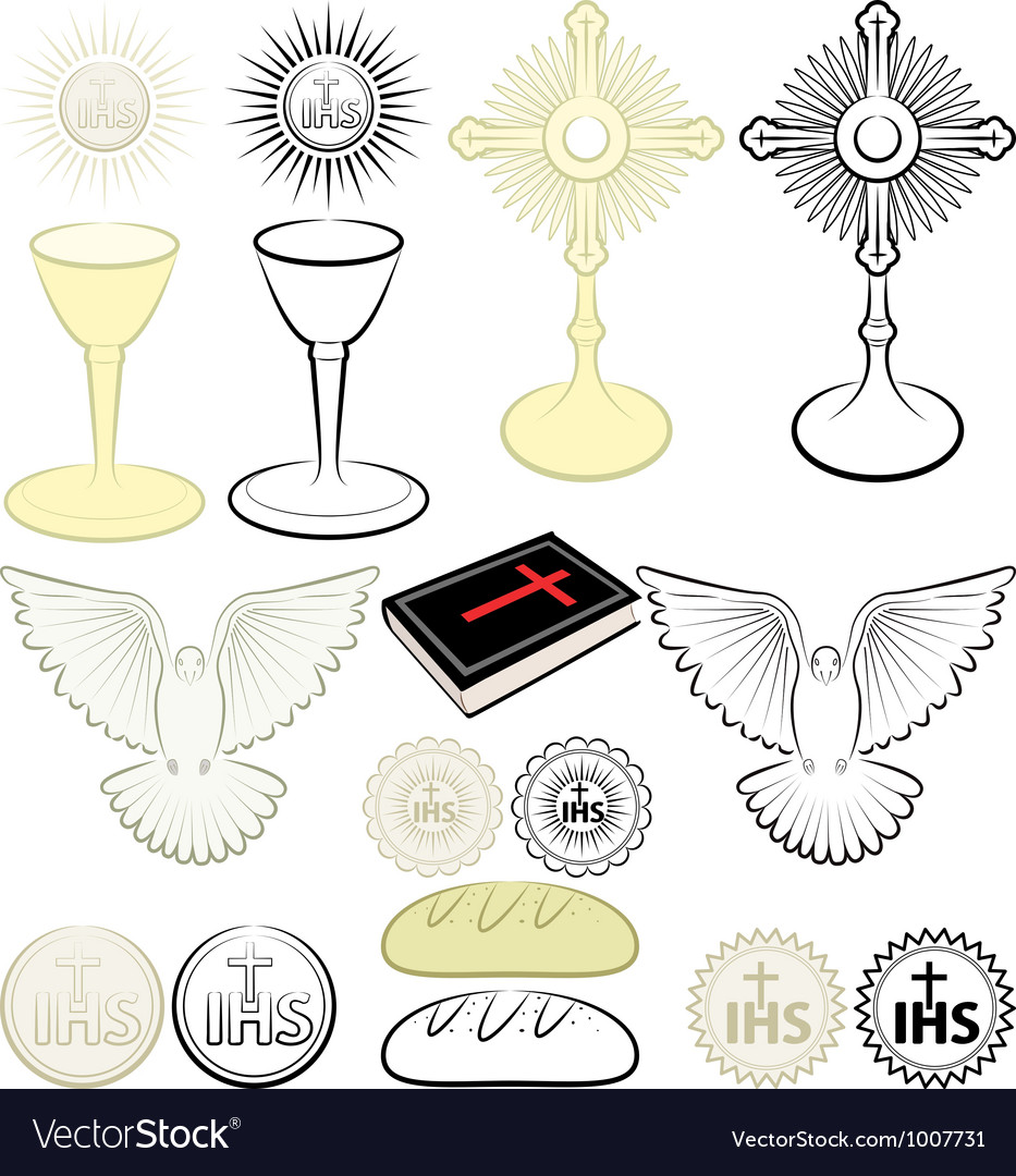 Symbols of christianity vector | Price: 1 Credit (USD $1)
