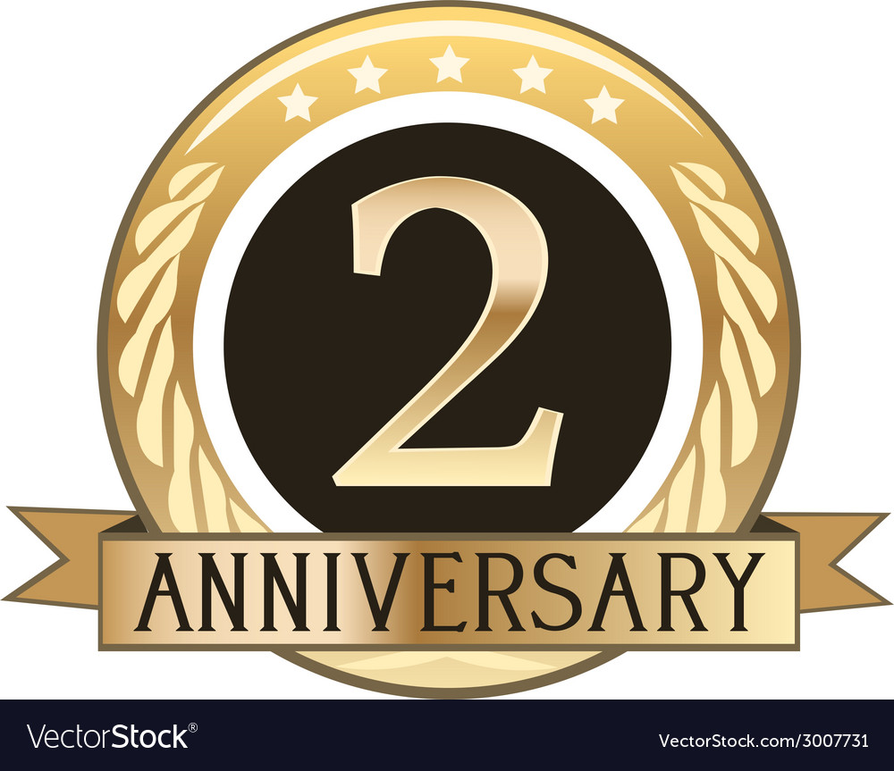 Two year anniversary badge vector | Price: 1 Credit (USD $1)