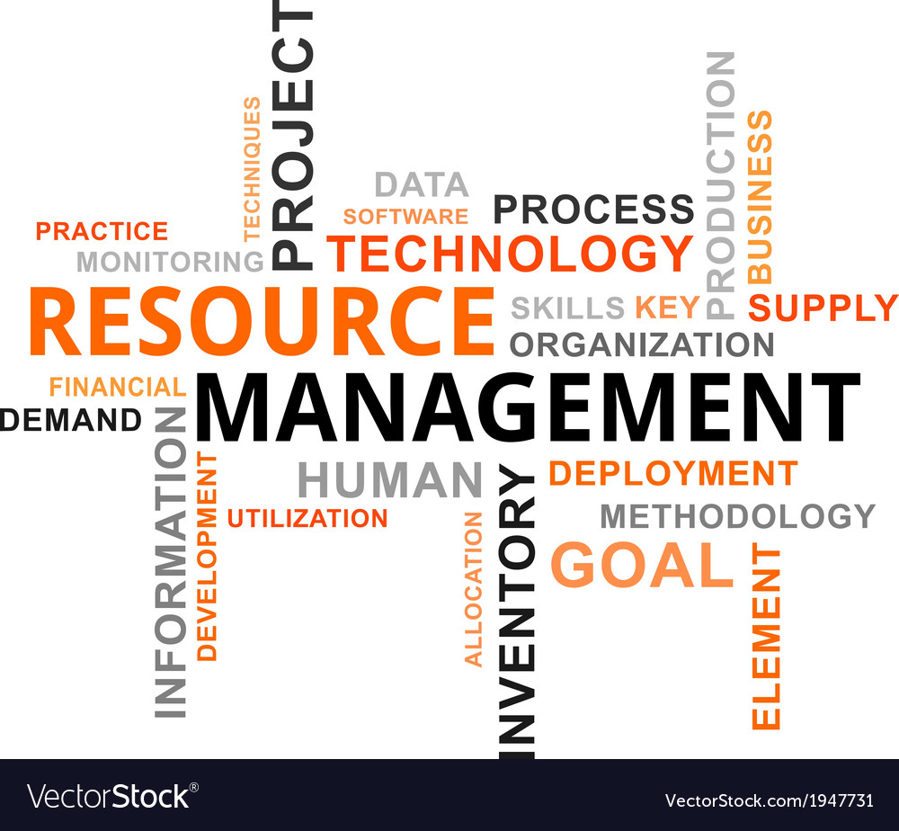 Word cloud resource management vector | Price: 1 Credit (USD $1)