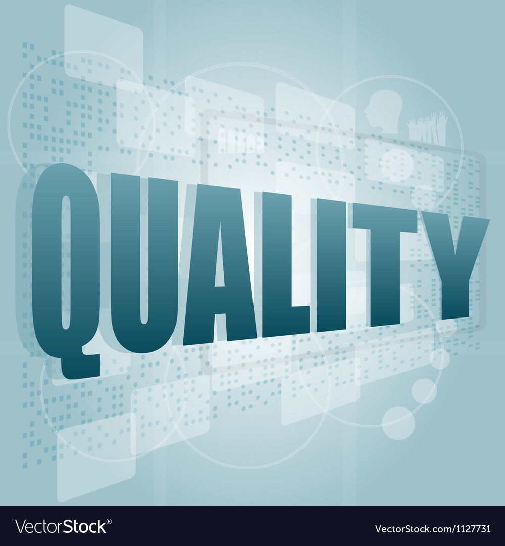 Words quality on digital screen business concept vector | Price: 1 Credit (USD $1)