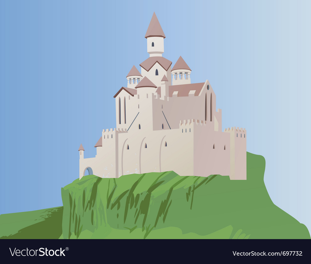 Castle on a rock vector | Price: 1 Credit (USD $1)