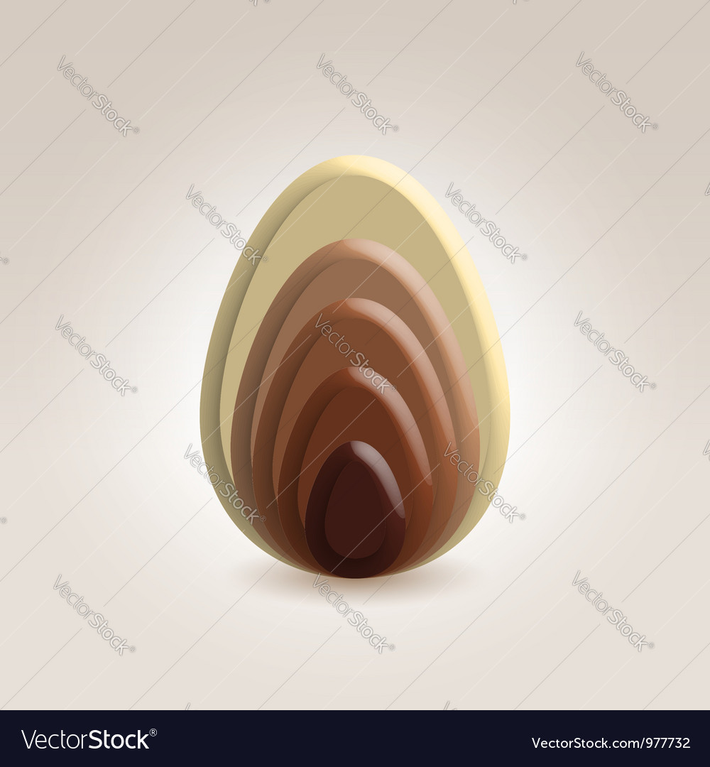 Chocolate slices ellipse shape vector | Price: 1 Credit (USD $1)